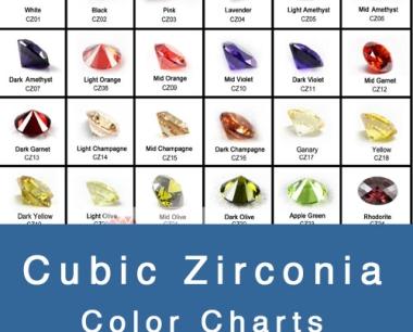 CUBIC ZIRCONIA COLOR CHARTS