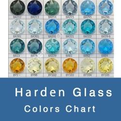 HARDEN GLASS GEMSTONES COLOR CHART