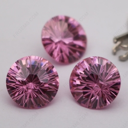Cubic Zirconia Pink Color Round Firework Cut 10mm stones CZ03 IMG_3231