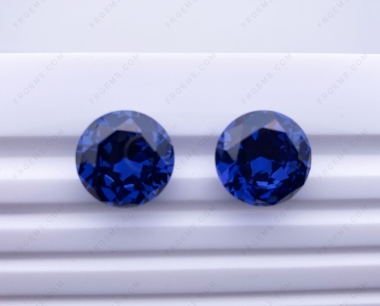 Cubic Zirconia Tanzanite Medium color Round Shape Diamond faceted Cut 16mm stones CZ32