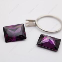 Cubic Zirconia Amethyst Color Rectangle Princess cut 18x13mm stones CZ10 IMG_2964