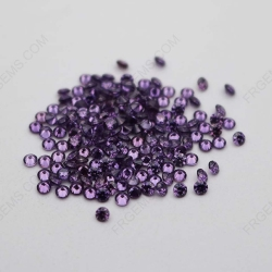 Cubic Zirconia Amethyst Color Round Shape faceted cut 2mm melee stones CZ10 IMG_1001