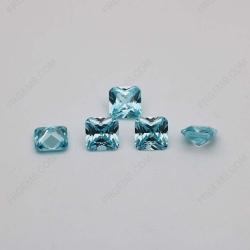 Cubic Zirconia Aquamarine Radiant Cut 7x7mm stones CZ38 China Supplier IMG_2408