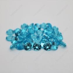 Cubic Zirconia Aquamarine Round Diamond faceted cut 6.5mm stones CZ38 China Supplier IMG_2058