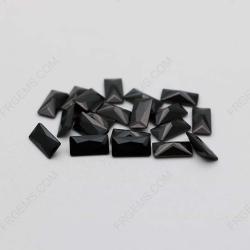 Cubic Zirconia Black Color Rectangle Shape faceted 4x2mm stones CZ02 IMG_1781