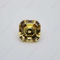 Cubic Zirconia Canary Fancy Yellow Asscher Cut 9x9mm stones CZ06 IMG_0577