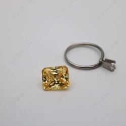Cubic Zirconia Canary Fancy Yellow Radiant Cut 12x10mm stones CZ06 IMG_1940