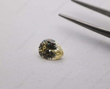Cubic Zirconia Canary Yellow 3A Pear Shape diamond faceted cut 9x7mm stones CZ06 IMG_3916