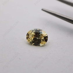 Cubic Zirconia Canary Yellow 3A Oval Shape diamond faceted Cut 10x8mm stones CZ06 IMG_3917