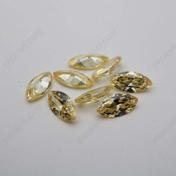 Cubic Zirconia Canary Yellow Marquise Shape 10x5mm stones CZ06 IMG_1021
