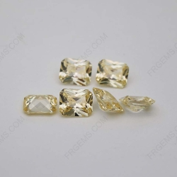 Cubic Zirconia Canary Yellow Octagon Shape Radiant Cut 10x8mm 3A Quality stones CZ06 IMG_2295