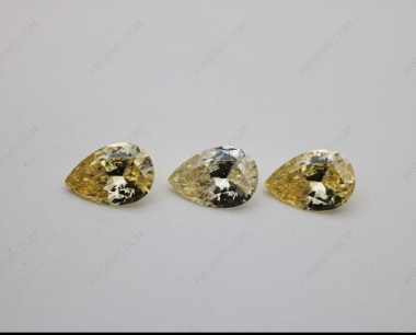 Cubic Zirconia Canary Yellow Pear Shape 5A Best Quality 10x7mm stones China Suppliers CZ06 IMG_2464