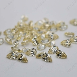 Cubic Zirconia Canary Yellow Pear Shape 7x5mm stones CZ06 IMG_0615