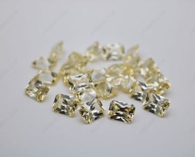 Cubic Zirconia Canary Yellow Radiant Cut 8x6mm stones CZ06 IMG_0645