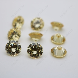 Cubic Zirconia Canary Yellow Round Diamond faceted Cut 10mm stones CZ06 IMG_0239