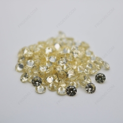 Cubic Zirconia Canary Yellow Round Shape Faceted Cut 4mm stones CZ06 IMG_0646