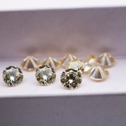 Cubic Zirconia Canary Yellow Round Shape diamond faceted cut 6.50mm stones 5A CZ06 IMG_3467