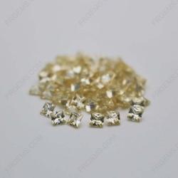 Cubic Zirconia Canary Yellow Square Shape Princess Cut 4x4mm stones CZ06 IMG_0303