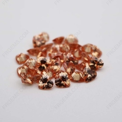 Cubic Zirconia Champagne Heart Shape faceted Cut 7x7mm stones CZ13 IMG_1209