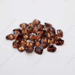 Cubic Zirconia Coffee Brown Heart Shape faceted 6x6mm stones CZ47 IMG_1210