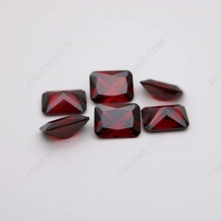 Cubic Zirconia Garnet Red Octagon Shape Princess Cut 14x10mm stones CZ22 Factory IMG_2402