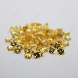 Cubic Zirconia Golden Yellow Flower Shape faceted Cut 8x8mm stones CZ05 MG_2585