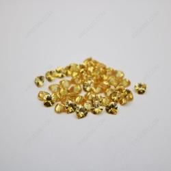 Cubic Zirconia Golden Yellow Heart Shape faceted diamond Cut 6x6mm stones CZ05 IMG_1328