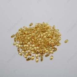 Cubic Zirconia Golden Yellow Oval Shape faceted diamond Cut 4x2mm stones CZ05 IMG_1048