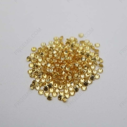 Cubic Zirconia Golden Yellow Round Shape faceted diamond Cut 2mm Melee stones CZ05 IMG_1029
