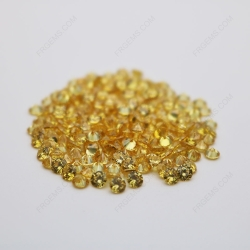 Cubic Zirconia Golden Yellow Round Shape faceted diamond Cut 3mm stones CZ05 IMG_0352
