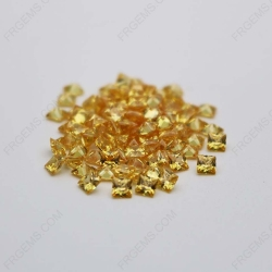 Cubic Zirconia Golden Yellow Square Shape faceted Princess Cut 5x5mm stones CZ05 IMG_0310