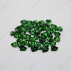 Cubic Zirconia Green Heart Shape Faceted Cut 6x6mm stones CZ35 IMG_1326