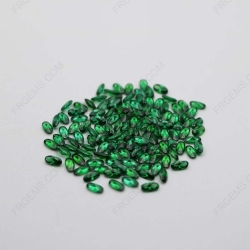 Cubic Zirconia Green Oval Shape Faceted Cut 4x2mm stones CZ35 IMG_1035