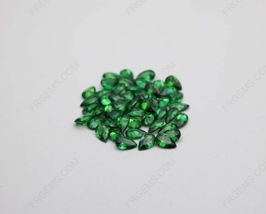 Cubic Zirconia Green Pear Shape Faceted Cut 5x3mm stones CZ35 IMG_2089