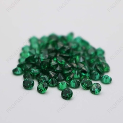 Cubic Zirconia Green Round Shape Faceted cut 5mm stones CZ35 IMG_0361