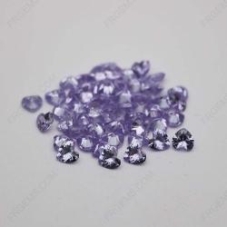 Cubic Zirconia Lavender Heart Shape Diamond Faceted Cut 6x6mm stones CZ08 IMG_1327