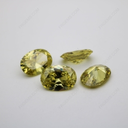 Cubic Zirconia Olive Yellow Oval Shape faceted Cut 12x8mm stones CZ25 IMG_1218