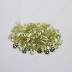 Cubic Zirconia Olive Yellow Round Shape Diamond faceted Cut 5mm stones CZ25 IMG_0358
