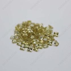 Cubic Zirconia Olive Yellow Square Shape Princess Cut 4x4mm stones CZ25 IMG_0313