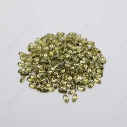 Cubic Zirconia Peridot Oval Shape faceted cut 4x2mm stones CZ27 IMG_1043