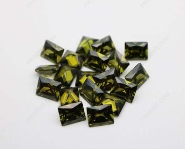 Cubic Zirconia Peridot Rectangle Shape Princess cut 10x8mm stones CZ27 IMG_0964