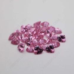 Cubic Zirconia Pink Heart Shape diamond faceted cut 6x6mm stones CZ03 IMG_1211