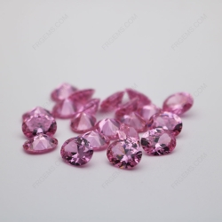 Cubic Zirconia Pink Oval Shape diamond faceted cut 10x8mm stones CZ03 IMG_0393