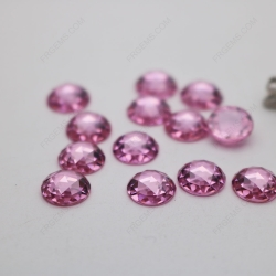 Cubic Zirconia Pink Round Shape Rose Cut Flat Bottom 8mm stones China Suppliers CZ03 IMG_2066