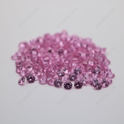 Cubic Zirconia Pink Round Shape diamond faceted cut 5mm stones CZ05 IMG_0344
