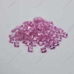 Cubic Zirconia Pink Square Shape Princess cut 5x5mm stones CZ03 IMG_0314