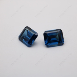 Cubic Zirconia Sapphire Blue Color Emerald Cut 12x10mm Stones CZ50 IMG_2938
