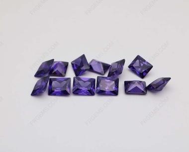 Cubic Zirconia Violet Rectangle Shape Princess Cut 8x6mm stones CZ19 IMG_2433