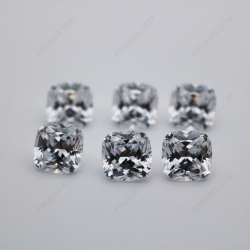 Cubic Zirconia White Color 5A Best Quality Cushion Shape Faceted Cut 10x10mm stones CZ01 IMG_0671