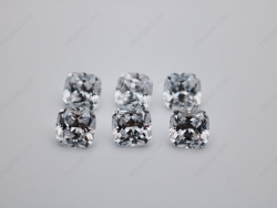 Cubic Zirconia White Color 5A Best Quality Cushion Shape Faceted Cut 7x7mm stones CZ01 IMG_0669